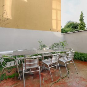 lovely terrace with barbecue in the abdication houselovely terrace with barbecue in the abdication house