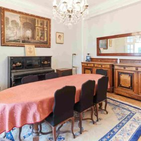 dining room designed with taste in a shared flat for expats