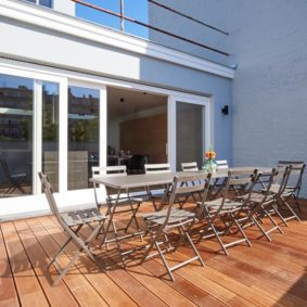 lovely terrace in a shared house for expats close to the European Commission