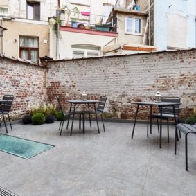 nice garden in a fully renovated house to rent for young professionals and expats in Brussels
